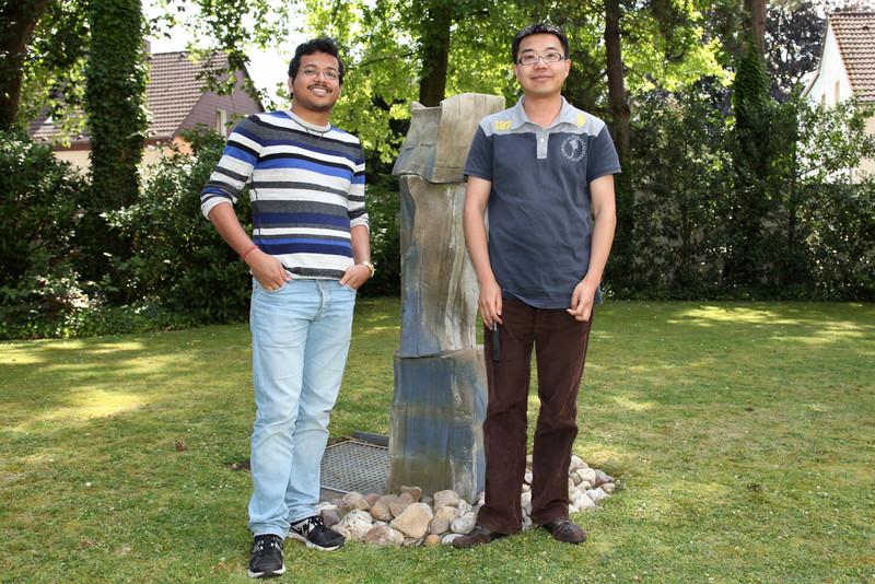 Bhaskar and Shengfa Ye at the MPI-CEC